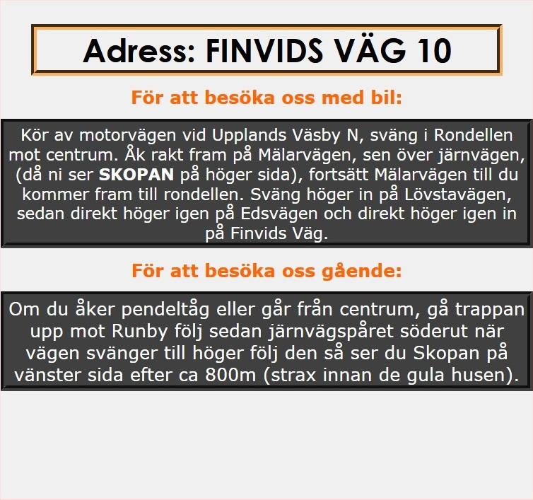 Adress & karta-text